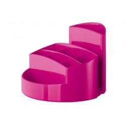 Suport pentru articole de birou, HAN Rondo - roz lucios