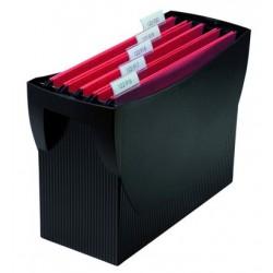 Suport plastic pentru 20 dosare suspendabile, HAN Swing - negru