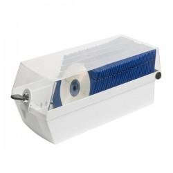 Cutie plastic pentru 60 CD/DVD, cu cheita, HAN Max 60 - gri deschis