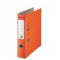 Biblioraft A4, plastifiat PP, margine metalica, 75 mm, ESSELTE Economy - portocaliu