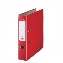 Biblioraft A4, plastifiat PP, margine metalica, 75 mm, ESSELTE Economy - rosu