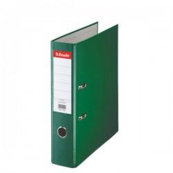 Biblioraft A4, plastifiat PP, margine metalica, 75 mm, ESSELTE Economy - verde