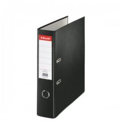 Biblioraft A4, plastifiat PP, margine metalica, 75 mm, ESSELTE Economy - negru