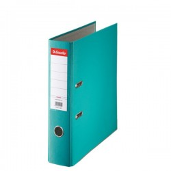 Biblioraft A4, plastifiat PP, margine metalica, 75 mm, ESSELTE Economy - turcoaz