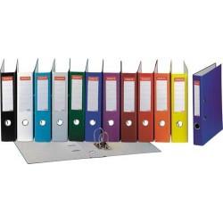 Biblioraft A4, plastifiat PP, margine metalica, 50 mm, ESSELTE Economy - portocaliu
