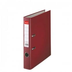 Biblioraft A4, plastifiat PP, margine metalica, 50 mm, ESSELTE Economy - visiniu