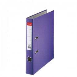 Biblioraft A4, plastifiat PP, margine metalica, 50 mm, ESSELTE Economy - mov