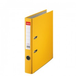 Biblioraft A4, plastifiat PP, margine metalica, 50 mm, ESSELTE Economy - galben
