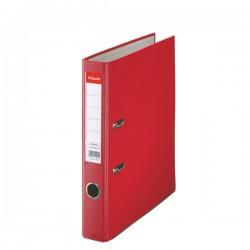 Biblioraft A4, plastifiat PP, margine metalica, 50 mm, ESSELTE Economy - rosu