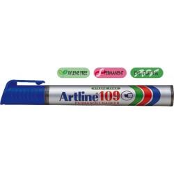 Permanent marker ARTLINE 109, corp plastic, varf tesit 2.0-5.0mm - albastru