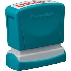 Stampila Xstamper QuiX - Q10, dreptunghiulara, 11 x 40 mm - tus albastru