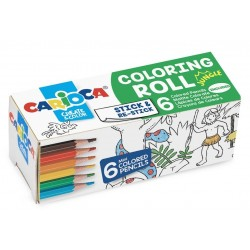 CARIOCA Coloring Roll Mini, 10 x 85 cm/rola, hartie autoadeziva - Jungle