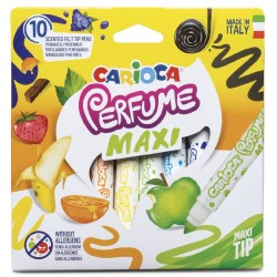 Carioca lavabila, parfumata, 10 culori/cutie, CARIOCA Perfume Maxi