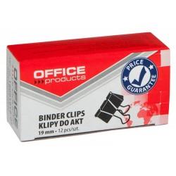 Clip hartie 19mm, 12buc/cutie, Office Products - negru