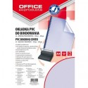 Coperta plastic PVC, 200 microni, A4, 100/top Office Products - albastru transparent
