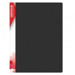 Dosar de prezentare cu 20 folii, A4, coperta rigida PP, Office Products - negru
