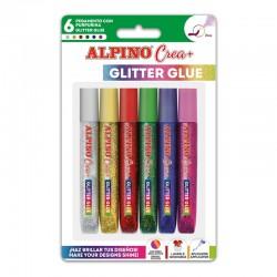 Lipici Glitter Classic, 6 buc/blister, ALPINO Crea