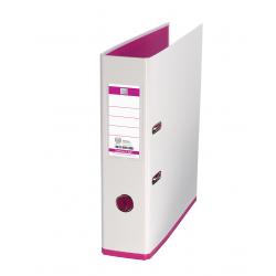 Biblioraft A4, plastifiat PP/PP, 80 mm, OXFORD MyColour - alb/alb/roz
