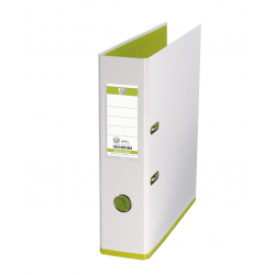 Biblioraft A4, plastifiat PP/PP, 80 mm, OXFORD MyColour - alb/alb/verde deschis