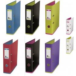Biblioraft A4, plastifiat PP/PP, 80 mm, OXFORD MyColour - negru/violet