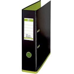 Biblioraft A4, plastifiat PP/PP, 80 mm, OXFORD MyColour - negru/verde deschis