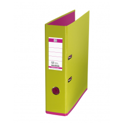 Biblioraft A4, plastifiat PP/PP, 80 mm, OXFORD MyColour - verde deschis/roz