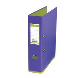 Biblioraft A4, plastifiat PP/PP, 80 mm, OXFORD MyColour - violet deschis/verde deschis