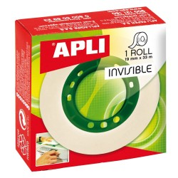 Banda adeziva Apli Invisible, 19 mm x 33 m