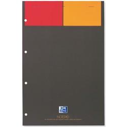 Blocnotes A4+, OXFORD Int., 80 file-90g/mp, Scribzee comp.,4 perf., coperta carton - matematica