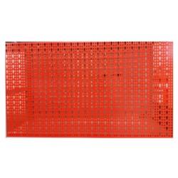 Panou metalic de perete pentru scule 960x480 mm, echipat cu 52 carlige, rosu, Plus