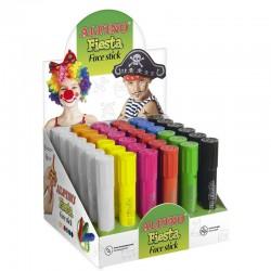 Display creioane pentru machiaj, 6 x 6culori/display, ALPINO Fiesta