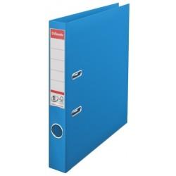 Biblioraft A4, plastifiat PP/PP, margine metalica, 50 mm, ESSELTE No. 1 Power - albastru vivida