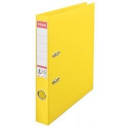 Biblioraft A4, plastifiat PP/PP, margine metalica, 50 mm, ESSELTE No. 1 Power - galben vivida