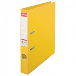 Biblioraft A4, plastifiat PP/PP, margine metalica, 50 mm, ESSELTE No. 1 Power - galben