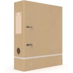 Biblioraft OXFORD Touareg, carton reciclat, cotor 80mm - culoarea nisipului/alb