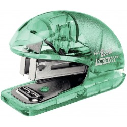 Capsator plastic Rapid Colour Ice F4, 10 coli, blister, 1000 capse 26/6 incluse, verde