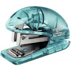 Capsator plastic Rapid Colour Ice F4, 10 coli, blister, 1000 capse 26/6 incluse, albastru