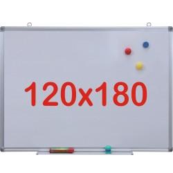 Tabla alba magnetica, 120x180 cm Premium (7 ani Garantie)