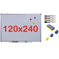 Pachet Tabla alba magnetica, 120x240 cm Premium