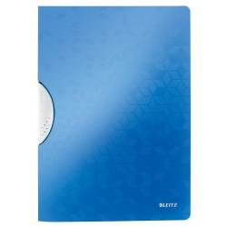 Dosar cu clip Leitz WOW ColorClip, PP - albastru metalizat