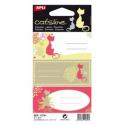 Etichete autoadezive Apli scolare, 3 coliset, 9 eticheteset, Catsline multicolor