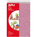 Coli Apli de spuma eva cu sclipici, grosime 2 mm, 4 coli/set, patru culori: roz, argintiu, albastru,