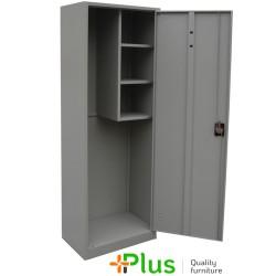 DULAP METALIC OBIECTE CURATENIE AC60, 600x400x1800 mm (LxlxH), inchidere 3 puncte, PLUS