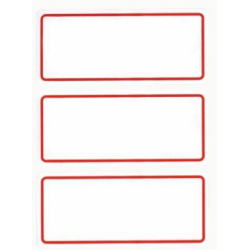 Etichete autoadezive Apli scolare, 6 coliset, 18 eticheteset, 34x78mm, bordura rosie