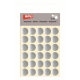 Etichete autoadezive Apli rotunde, 3 coli/set, 90 etichete/set, 20mm, argintii