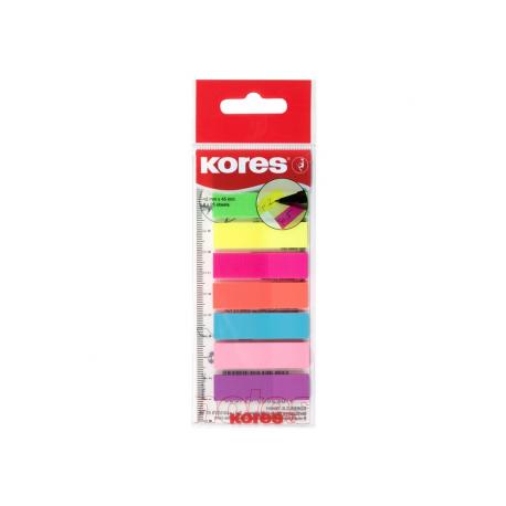 Index Plastic 12 x 45 mm 8 Culori x 25 File Kores
