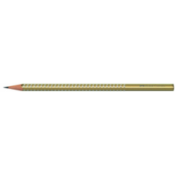 Creion Grafit B Sparkle Metalic Auriu Faber-Castell