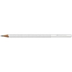 Creion Grafit B Sparkle Alb Faber-Castell