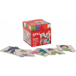 Puzzle educativ Apli, cu tema profesii, 24 de piese