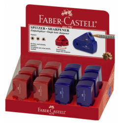 Ascutitoare Plastic Simpla Sleeve-Mini Rosie/Albastra Faber-Castell